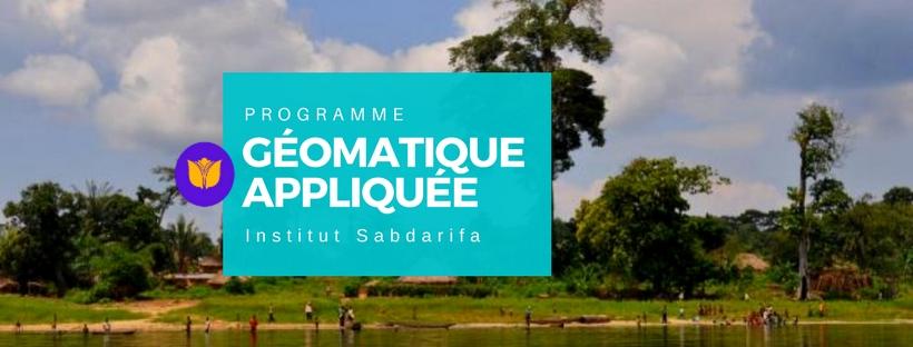 Programme Géomatique Appliquée Institut SABDARIFA 3