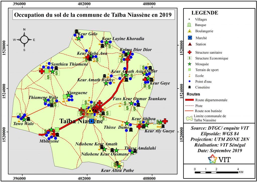 carte occupation du sol vit sénégal