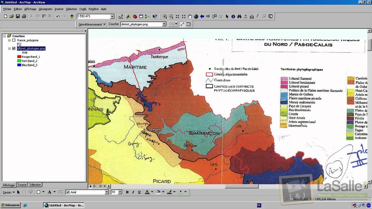 Cartographie géoréférencement